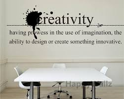 Flossy Creativity Motivational Quote Wall Sticker Quote Wall Decal Diy  Vinyl Wall Quotes Lettering Hot Q