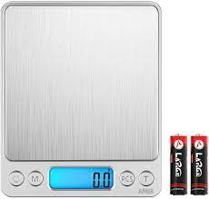 Amazon.com: AMIR Digital Kitchen Scale, 3000g 0.01oz/0.1g Pocket Cooking  Scale, Mini Food Scale, Pro Electronic Jewelry Scale with Back-Lit LCD  Display, Tare & PCS Functions, Stainless Steel, Batteries Included: Kitchen  & Dining