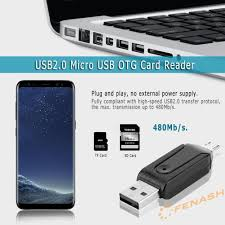 Đầu Đọc Thẻ Nhớ Usb2.0 Micro Usb Otg Cho Điện Thoại/Máy Tính