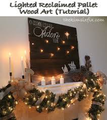 Wooden Christmas Sign With Lights Lighted Reclaimed Lumber Christmas Sign Tutorial The Kim