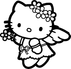 The hello kitty printables and coloring pages below have great illustrations for every letter. Hello Kitty Coloring Page Wecoloringpage Hello Kitty Colouring Pages Kitty Coloring Hello Kitty Coloring