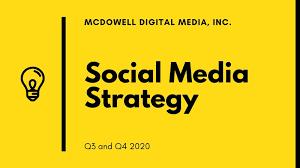 Strategy Presentation Yellow Modern Creative Corporate Social Media Strategy