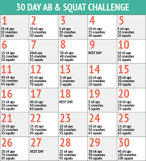 30 Days Of Abs And Squats Chart Printable This Entry Was