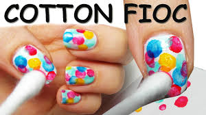 Nail Art TUTORIAL SUPER FACILE con COTTON-FIOC! - YouTube