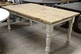 5 ft old oak dining room table with white legs
