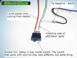 how to install interior car lights neon and led positioned all components in their locations and that the wires are long enough join each end of the power wires to each side of the toggle switch