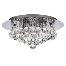special offer searchlight 3404 4cc hanna 4 light crystal flush ceiling light in chrome