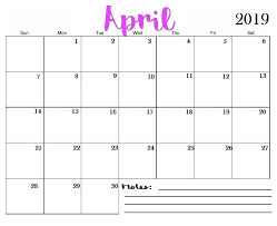 Full Page Blank Calendar Template April 2019 Printable Calendar Templates Free Blank
