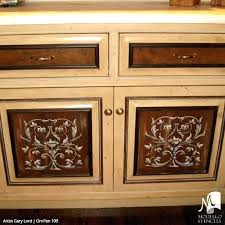 custom painted furniture cabinet panels wall stencils for decorating baby dallas furnitu