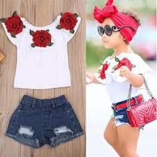 Fashion Toddler Kids Baby Girls 3D Flower Tops Clothes ... - Vova