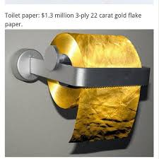 gold flake toilet paper. ultra luxury life on twitter: \ gold flake toilet paper p
