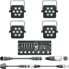 full image for led stage lighting kit uk lights controller cables party or portable