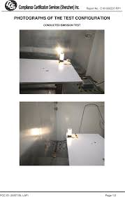 Interior Lighting Compliance Certificate Bl Lafi Deng Wifi Lafi Bed Lamp Test Setup Photos Ce Emc