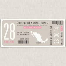 Boarding Modern Destination Wedding Invitation Boarding Pass