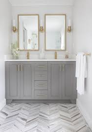 bathroom features gray shaker vanity: gold bathroom grey bathrooms beautiful bathrooms brass bathroom fixtures gray bathroom vanities white master bathroom bathroom double vanity