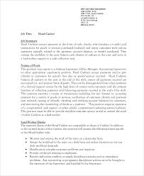 7 Sample Cashier Resumes Sample Templates