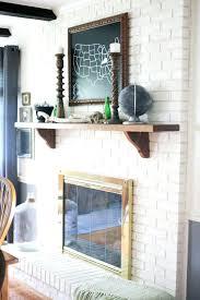 fireplace brick painting painted brick fireplace white red brick fireplace paint ideas