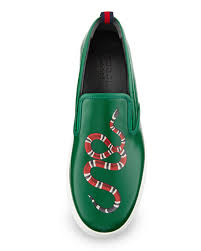 gucci shoes snake. dublin snake-print leather slip-on sneaker gucci shoes snake