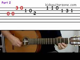 Instrumental solo in f major. Guitar Lesson 4a Beginner Happy Birthday On Three Strings Youtube