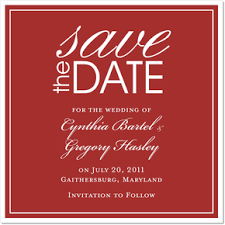 Red Save The Date Cards Bells Will Ring Red Save The Date Cards On Shimmer Stock