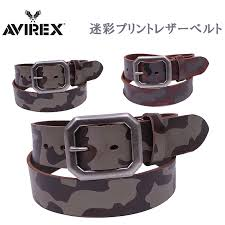 camouflage print leather belt camouflage pattern printed leather belt avirex avirex ax4107
