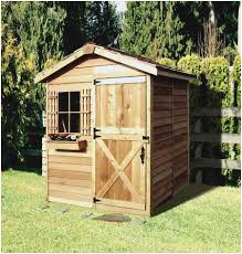wooden outdoor storage shed post