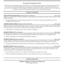Chef Resume Templates Executive Resume Templates Resume Templates