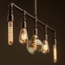 diy edison light chandelier 5 lamp bakelite and plumbing pipe chandelier vintage bulb selection images