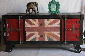 distressed antique furniture. Distressed Classic American Style Antique Furniture Loft Mining British Flag Imitation Iron Cabinet TV Cupboards O