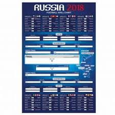 Argentina Giant 2018 Fifa World Cup Russia Fixture Wall Chart For Sweepstakes