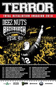 terror are ing back to europe with their total retaliation invasion tour bringing with them deez nuts backtrack and risk it as well as some more