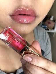 Clarins Instant Light Lip Comfort Oil Honey Clarins Instant Light Comfort Lip Oil Swatches And Review