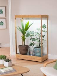 House Plant Led Grow Light Tall Led Grow Lights In Bamboo Plant Stand Gardeners Com