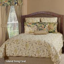 island coal tropical bedding accessories featuring tommy bahama fabric