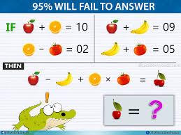 the apple banana orange and tomato puzzle viral fruits math puzzle