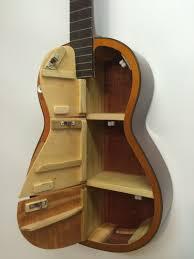 Shelf Cabinet With Doors Guitar Shelf 32 Recycled Acoustic Guitar With 6 Cabinet Doors
