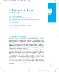 Hypothetical Syllogism Syllogisms In Ordinary Language Pearson Higher Ed Pages 1