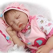 Kingko_ 22inch Reborn Newborn Baby Dolls, Look Real Soft Silicone ...