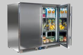 xp2 double outdoor fridge solid door