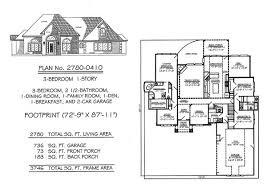 1 Story, 3 Bedroom, 2 1/2 Bathroom, 1 Dining Room, 1 Family Room, 1  Breakfast, 1 Den, 2 Car Garage, 2780 Square Feet House Plan Monte Smith Designs  House ...