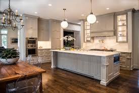 Grey Cabinets Kitchen Painted Painting Crown Molding To Match Cabinets An Example In Sherwin