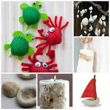 Seashell Craft Ideas - over 37+ ideas to keep you Summer Crafts Happy. Love