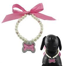 Designer Pet Jewelry Alfie Couture Designer Pet Jewelry Sue Pearl Necklace With