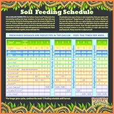 Fox Farm Nutrient Chart Specific Fox Farm Nutrients Feeding Chart Fox Farm Feeding