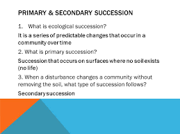 Primary Succession And Secondary Succession Venn Diagram How Ecosystems Recover From Disturbances Ppt Video Online