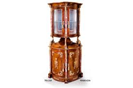 empire neoclassical ormolu and marble mounted grand corner vitrine display cabinets bijouterie