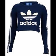 adidas long sleeve. shirt adidas trefoil blue navy crop tops long sleeves sleeve