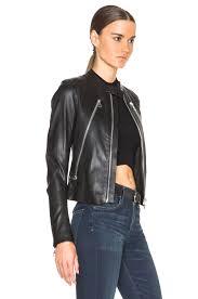 image 4 of maison margiela stretch leather jacket in black