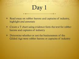 learning target i can analyze various primary and secondary 12 day 1 iuml131sup2 essay on robber barons