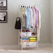 nava multipurpose studio bedroom clothes garment wardrobe organizer rack white